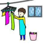 梅雨の洗濯